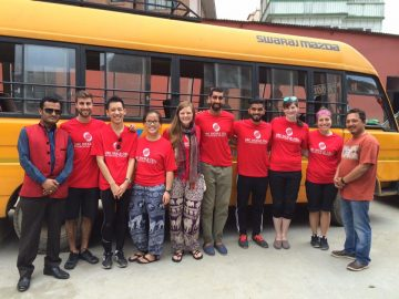 The 2016 Nepal Sickle Cell Team: Eric Busto, Jordan Yeo, Bethanie Giang, Monica McKeown, Armaan Malhotra, Abhi Cherukupalli, Katie Stromgren, and Laura Halperin.